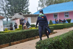 Security guard takes forefront in fight against COVID-19